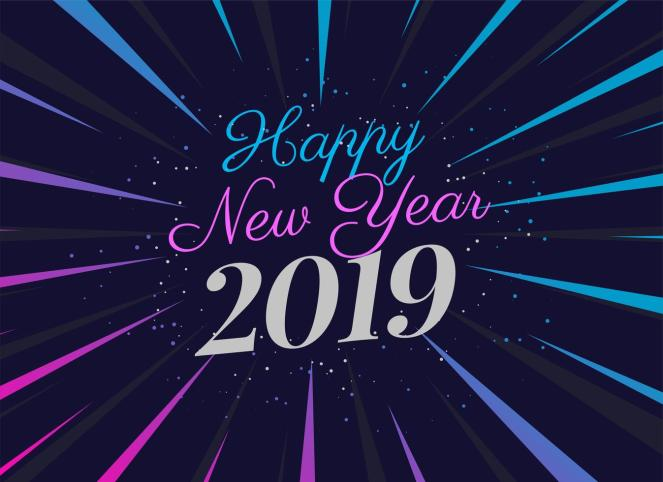 vector-2019-party-style-new-year-background